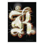 Alfabeto K de Bling Felicitación