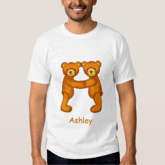 Alfabeto Letter~A~Initial Shirt~Custom del oso de  Playeras