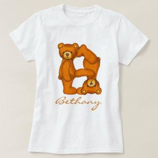 Alfabeto Letter~B~Initial Shirt~Custom del oso de Playera