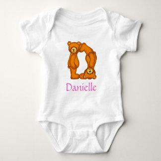 Alfabeto Letter~D~Initial Shirt~Custom del oso de Playera