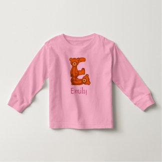 Alfabeto Letter~E~Initial Shirt~Custom del oso de Playeras