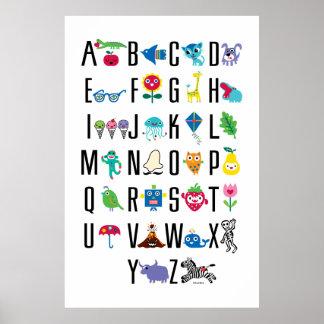 Alfabeto lindo - poster