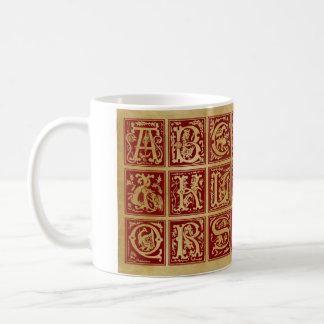 Alfabeto medieval 3 - taza