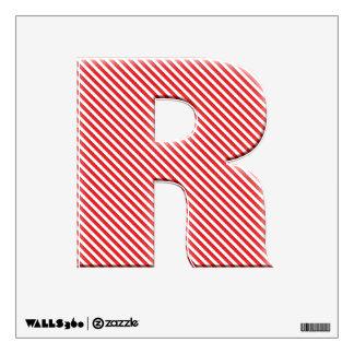 Alfabeto rojo diagonal de la raya - R inicial