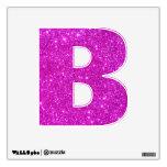 Alfabeto rosado B de la etiqueta de la pared de la