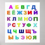 Alfabeto ruso impresiones
