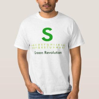 Alfabeto S2 verde Remeras