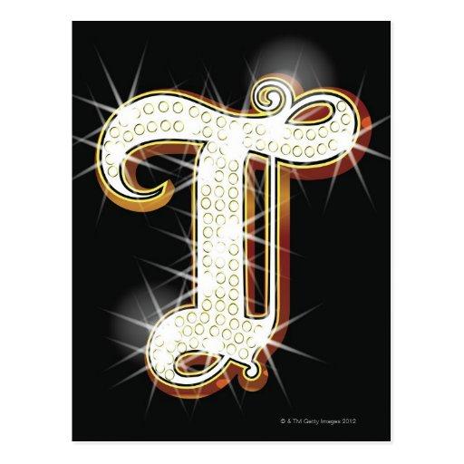 Alfabeto T de Bling Postal