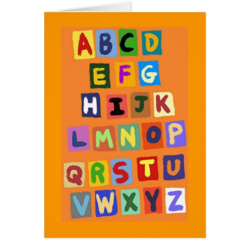 alfabeto tarjeta pequeña