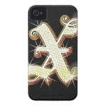 Alfabeto X de Bling Funda Para iPhone 4 De Case-Mate