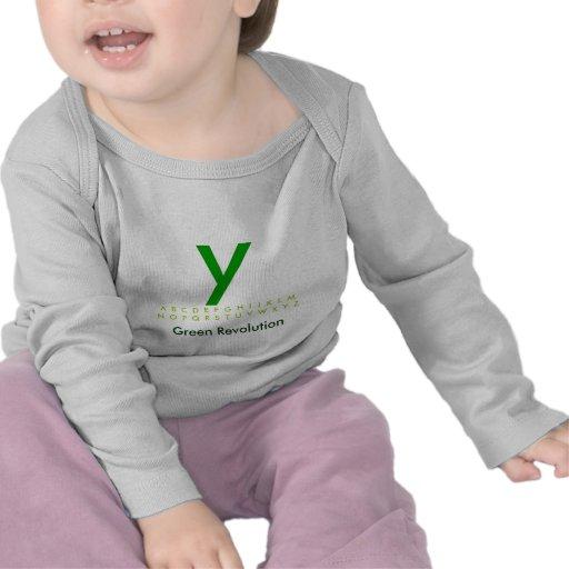 Alfabeto Y verde Camisetas