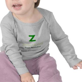 Alfabeto Z verde Camiseta