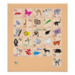 Alfabetos animales poster
