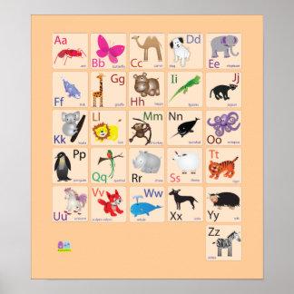 Alfabetos animales póster