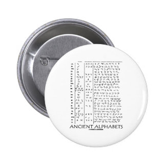 Alfabetos antiguos pin redondo 5 cm