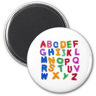 Alfabetos de la jalea imán de frigorífico