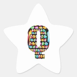 Alfabetos decorativos - sorteo del fiesta calcomanía forma de estrella personalizada