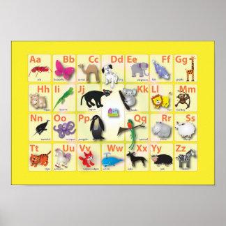 Alfabetos: Mi ABC con 26 animales Póster