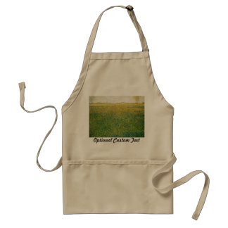 Alfalfa Fields Saint Denis by Georges Seurat Adult Apron
