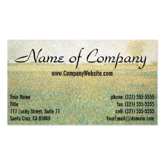 Alfalfa Fields Saint Denis by Georges Seurat Business Card