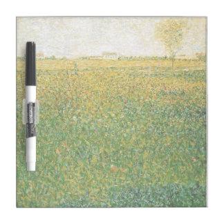 Alfalfa Fields Saint Denis by Georges Seurat Dry-Erase Board