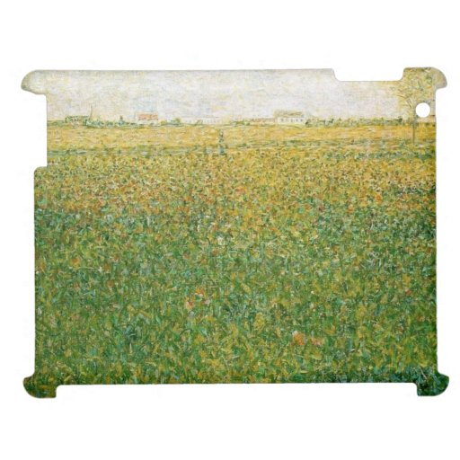 Alfalfa Fields Saint Denis by Georges Seurat Case For The iPad