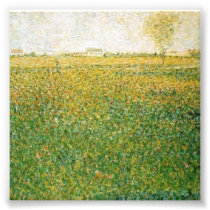Alfalfa Fields Saint Denis by Georges Seurat Photo Print