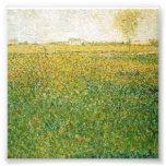 Alfalfa Fields Saint Denis by Georges Seurat Photographic Print