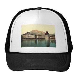 Alfalfa, Hotel du Lac, Pilatus, vintag de Suiza Gorros Bordados