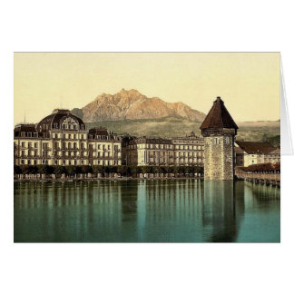 Alfalfa, Hotel du Lac, Pilatus, vintag de Suiza Tarjeta