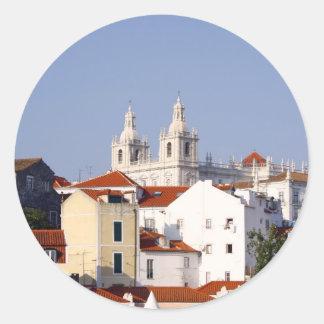 Alfama, Lisbon, Portugal Classic Round Sticker