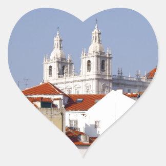 Alfama, Lisbon, Portugal Heart Sticker
