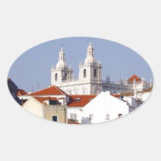 Alfama, Lisbon, Portugal Oval Sticker