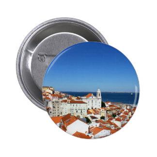 Alfama, Lisbon, Portugal Pinback Button