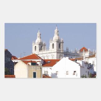 Alfama, Lisbon, Portugal Rectangular Sticker