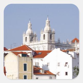Alfama, Lisbon, Portugal Square Sticker