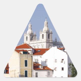 Alfama, Lisbon, Portugal Triangle Sticker