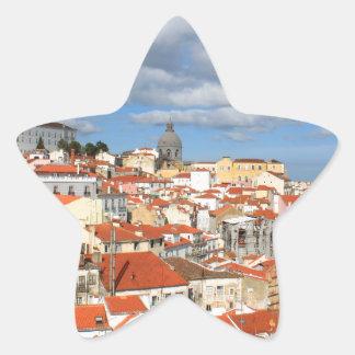 Alfama Lisbon rooftops Star Sticker