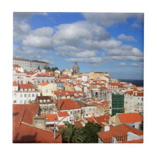 Alfama Lisbon rooftops Ceramic Tile
