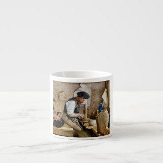Alfarero Herman Kähler en su taller de L.A. Ring Taza Espresso