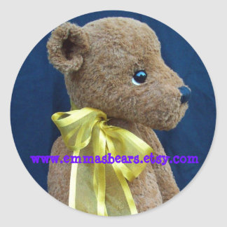 alfie bear classic round sticker