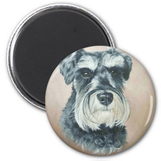 Alfie - miniature schnauzer 2 inch round magnet