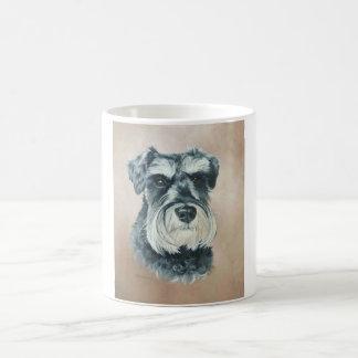 Alfie - schnauzer miniatura taza básica blanca