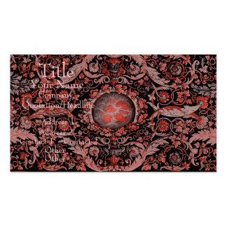 Alfombra 1 (rojo) de Savonnerie Tarjeta De Visita