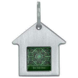 Alfombra 1 (verde) de Savonnerie Placa De Mascota
