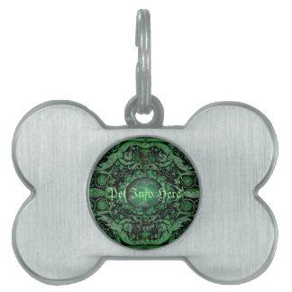 Alfombra 1 (verde) de Savonnerie Placas De Mascota