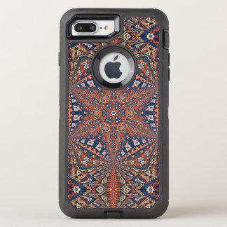 Alfombra armenia caleidoscópica en rojo y azul funda OtterBox defender para iPhone 7 plus