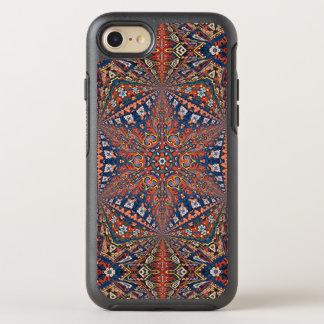 Alfombra armenia caleidoscópica en rojo y azul funda OtterBox symmetry para iPhone 7