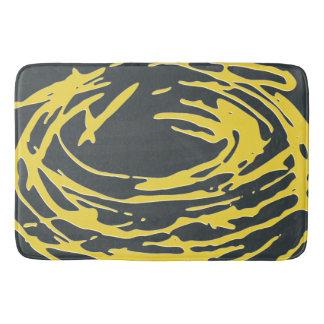 Alfombra de baño amarilla de un extracto más