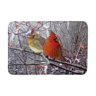 Alfombra de baño cardinal del bosque
